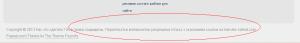 Пример защиты авторских прав в подвале сайта